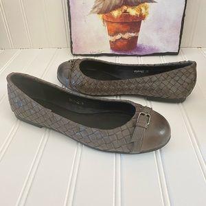 Bottega Veneta Gray Intrecciato Leather Flats 6